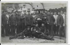 "RARE MILITARY VINTAGE POSTCARD,NAVY SAILORS""OUR ANNUAL HOLIDAY,R.F.R,NOV 1912""RP"