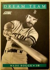 1991 Score Baseball Cards #889 - Wade Boggs (Dream Team 9 of 13) Ungraded