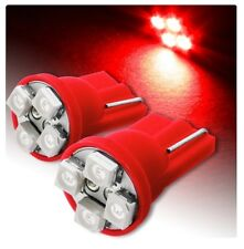 2 LAMPES EMPLACEMENT LED ROUGE T10 4 SMD ampoule voiture 6000K 12V W5W car XÉNON