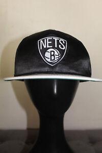 Nike NBA Brooklyn NETS Black with White Bill Cap SnapBack One Size