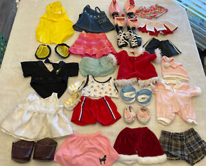 Huge LOT Build A Bear Or Cabbage Patch Cpk Clothes Outfits Skates Shoes Skirts +