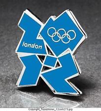 OLYMPIC PINS BADGE 2012 LONDON ENGLAND UK CUT-OUT LOGO BLUE
