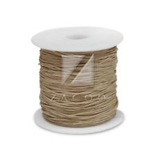 1 Roll 80M 0.5mm Waxed Cotton Cord Jewelry Making Thread Beading Supply Khaki