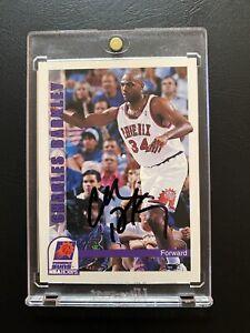 SIGNED 1992-93 NBA HOOPS SKYBOX CHARLES BARKLEY JSA COA AUTO PHOENIX SUNS FINALS