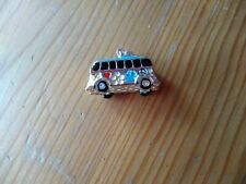 NEW V.W Camper Van 3D Charm Silver and Enamel / Clasp 20x10mm UK
