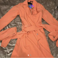 Orange Blazer dress missguided size 8