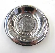 Vintage Silver Dish with 1804-PTS 8 PJ Reales from Bolivia
