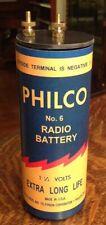 Antique Refillable #6 Philco Dry Cell Battery Telephone, Radio, Lantern