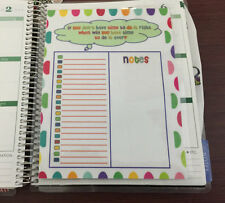 To Do/Notes/PostIt Checklist Dashboard Insert for use with Erin Condren Planner