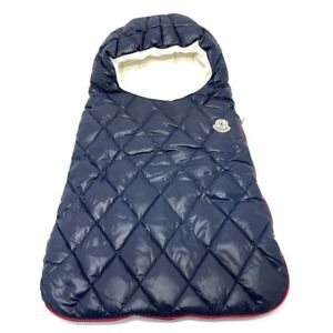 MONCLER For babies Puffer Down Swaddle Blanket Cover Navy x White