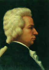 W.A. MOZART, COMPOSER - PORTRAIT BY ELIAS RIVERA - ORIGINAL OIL PAINTING