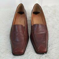 Van Dal Vandalease KINROSS Ladies Court Heel Brown Leather Shoes Size UK 6.5 D