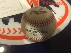 New York Mets game used baseball