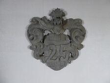 altes Schild Hausnummer Aluminium Nr. 25  Barock  Vintage