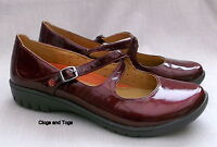 NEW CLARKS UNSTRUCTURED UN LADY WOMENS BORDEAUX RED PATENT SHOES
