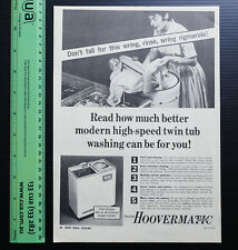 1963 old vintage ad HOOVERMATIC Twin Tub Washing Machine Washer advertisement