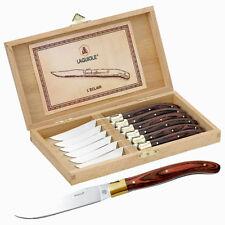 6er LAGUIOLE Steak-Messerset UNFOLDABLE in Holzbox Steakmesser Knive Edelstahl