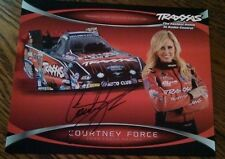 Courtney Force signed autograph Hero Card photo Nhra.