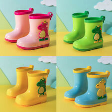 Children Infants Baby Boys Girls Cartoon Waterproof Dinosaur Rain Boots Shoes