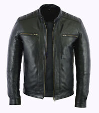 f16a48bbf8099 Mens Fashion Real Leather lambskin Leather Biker Style Motorcycle Jacket