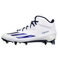 ADIDAS ADIZERO 5-STAR 5.0 MID Mens Football Cleats, White / Navy Blue, Size 11.5
