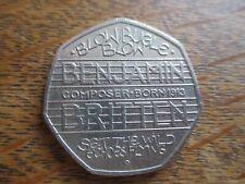 50p coin Benjamin Britten 2013