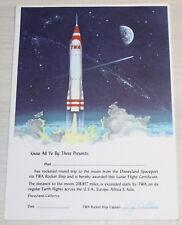 DISNEYLAND 1955 AUTHENTIC Spaceport TWA Rocket