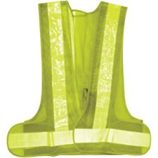 Green Reflective Illuminated Light Up Safety Vest Dusk Walking Running LED Bulbs