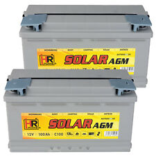 2x HR AGM Solar Batterie 12V 200Ah 24V 100Ah Wohnmobil Versorgung Solar Boot