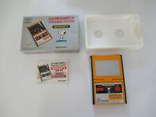 ☺ Ancienne Game & Watch Panorama Screen Snoopy Nintendo Fonctionne Avec Boîte