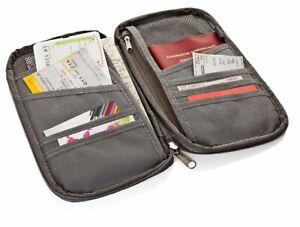 RFID Dokumente-Organizer Reisegeldbeutel Kreditkarte Passport Reise Dokumente