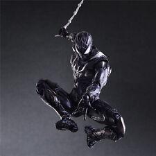 PLAY ARTS KAI Variant Marvel BLACK SPIDER-MAN Action Figure Toy Doll 3D Model