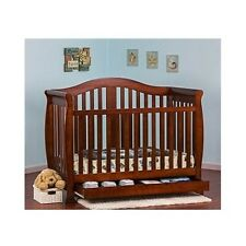 New listing Convertible Baby Crib With Toddler Rail Storage Bed 4 In 1 Nursery Furniture New