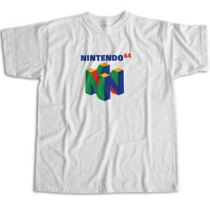 Cool Retro Video Game Fun Cute 64 Symbol N64 Mens Womens Kids Unisex Tee T-Shirt