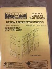DPM Modular Wall System  N Scale  Dock Level Riser Walls (6) Dock (3) #60131