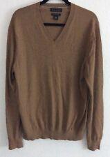 Banana Republic Sweater Men's V Neck Size L Extra Fine Merino Wool Brown (br3)