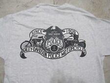 HARLEY DAVIDSON Police Badge Eagle Logo Mens MED Shirt Ash Grey 1 Motorcycles M