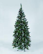 ALBERO DI NATALE PINO DELLE MARCHE CON PIGNE 180 cm. 420 rami punte bianche SLIM