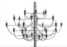 Lampe suspendue style Gino Sarfatti 30 lampes en chrome