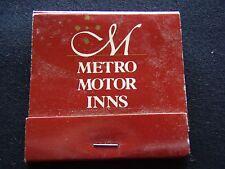 METRO MOTOR INNS ALL SUITES APARTMENTS 008 022523 MATCHBOOK