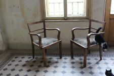Pair of Biedermeier Midcentury style Armchairs 1920's