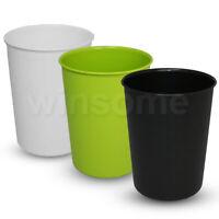Paper Waste Bin Trash Rubbish Basket Bedroom Office Dustbin Disposal Plastic Bin