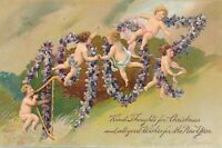 CHRISTMAS and NEW YEAR – Kind Thoughts for Christmas and 1907 Year PFB Postcard