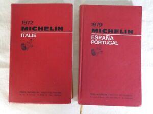 GUIDE MICHELIN ITALIE 1972 et Espagne / Portugal 1979