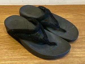 Fitflop Black Jewelled UK Size 4 EU 37 Sandals Available Worldwide
