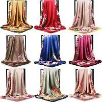 Square Scarf Women's Fashion Print Head Large Shawl 90cm*90cm Luxury Brand Wraps