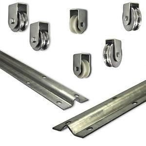 Schiebetür Bodenlaufschiene Laufrolle Nylon Stahl einzeln und im Set  Neu