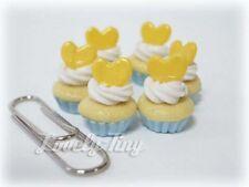 Dollhouse miniature 6 PCs.of Cupcake Yellow Heart CC06