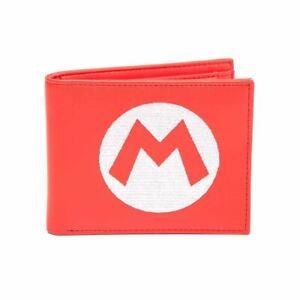Super Mario M Logo Red Bi-Fold Wallet - Nintendo Merch Gift