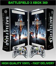 Xbox 360 Console Sticker Skin Battle Field war style skin & 2 X Controller Skins